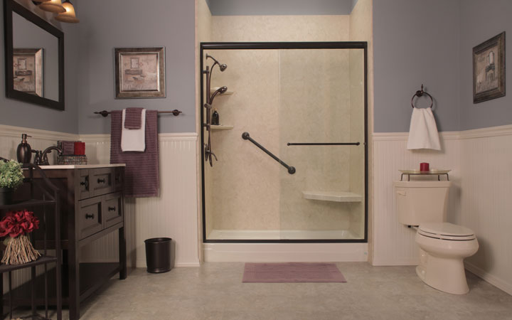 Tub To Shower Conversion Clearwater Bathroom Remodeling